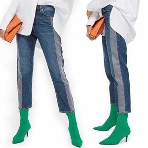 Topshop Moto High Rise Rhinestone Side Jeans